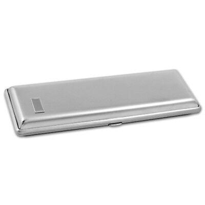 Zigarren-Etui Metall Nickel satin für 3 Zigarren bis Länge 19cm, Cigarrenetui