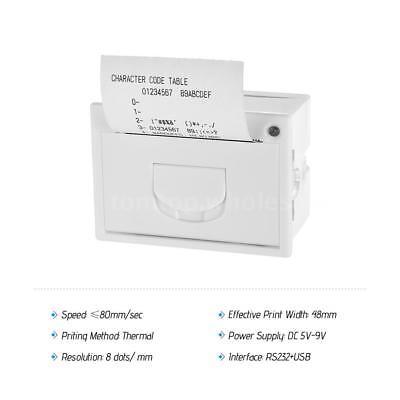 Goojprt Qr204 58mm Embedded Receipt Thermal Printer Rs232usb 50-85mms W1w1