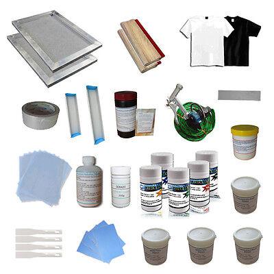 1 Color Screen Printing Materials Kit Diy Hand Tools Press Squeegee Ink Scraper
