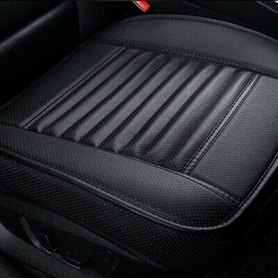Black PU Car Front Seat Breathable Full Surround Cover Cushion Chair Pad Mat