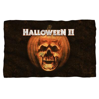 Halloween II Movie POSTER Pumpkin Skull Lightweight Polar Fleece Throw Blanket (Halloween Pumpkin Movie)