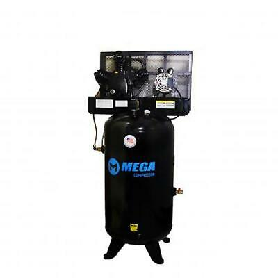 Mega Power Mp-6580v2 230v 5 Hp Vertical Air Compressor W Two Stage Pump