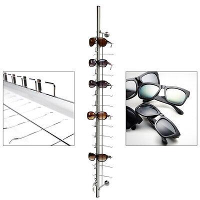 Aluminium Sunglasses Eye Glasses Display Rack Stand Holder Organizer 14 Layers