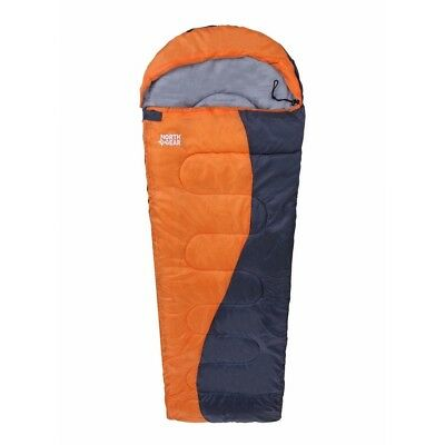 North Gear Camping Envelope Sleeping Bag With Hood