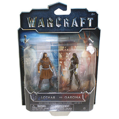 Jakks Pacific Toys   Warcraft Movie Mini Figure 2 Pack   Lothar Vs  Garona  2 5