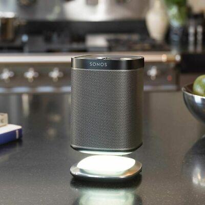 Flexson Lighted Desktop Speaker Stand for Sonos PLAY 1 with USB Charger Black