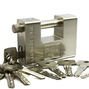 10-Keys-Super-Heavy-Duty-20-40-Container-Garage-Warehouse-Padlock-Chain-Lock
