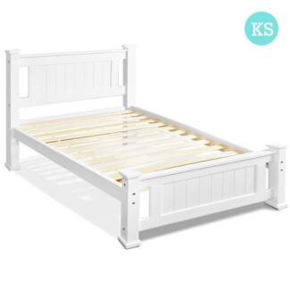 BRAND NEW IN THE BOX WHITE WOODEN KING SINGLE BED | Beds | Gumtree ...