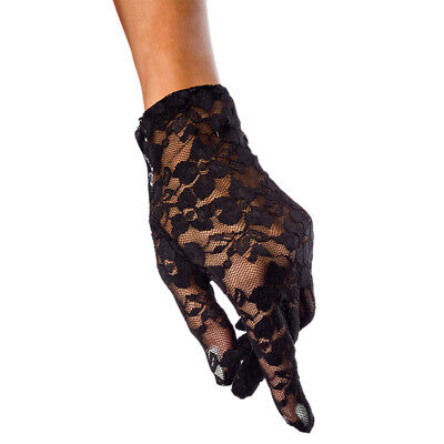 ILAVO® Netz Handschuhe Spitze kurz schwarz ZM17-11 Kurze Schwarze Nylon-handschuhe