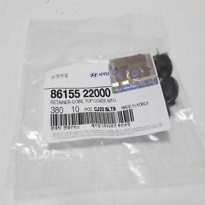 10PC Universal Push Clips Retainer cowl top cover MTG For Hyundai Kia 8615522000