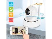 ip cctv camera mem card baby monitor iphone/android mic 720p HD wifi camera can be moved via phone!