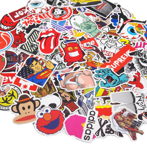 Lot 100 Random Skateboard Stickers bomb Vinyl Laptop Luggage Decals Dope Sticker