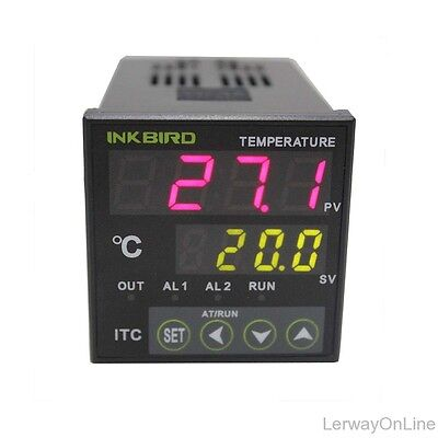 Itc-100rl Digital Pid Temperature Controller Control Thermostat 12-24v Dual Lcd