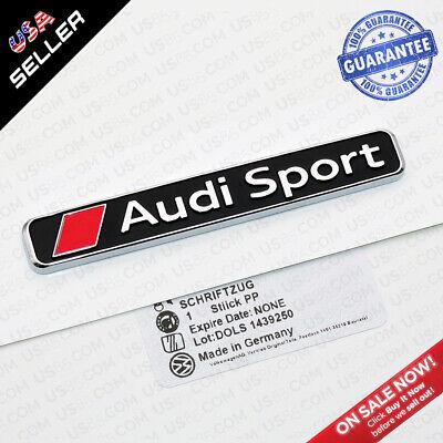 1x Universal OEM Audi Sport Trunk Lid Fender Badge Logo Emblem Decor Gift S Line