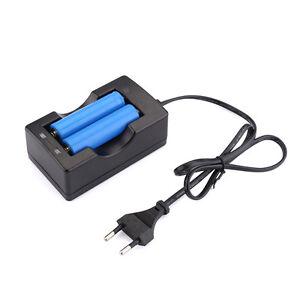 EU Adapter Ladegerät Charger für 3.7V 2 x 18650 Li-ion Akku Batterie Battery