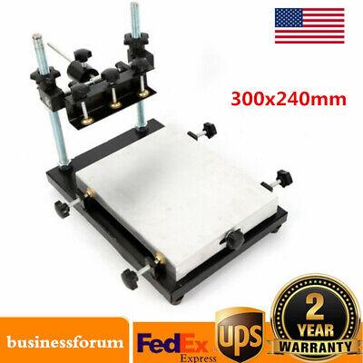 Manual Solder Paste Printer Pcb Smt Stencil Printing Platform Machine 300x240mm