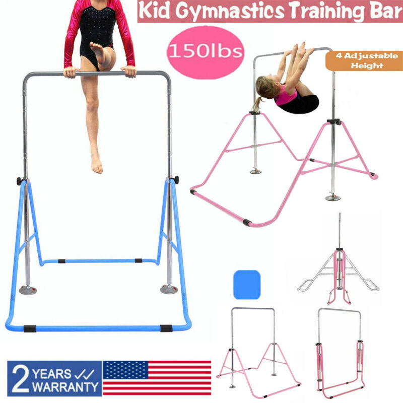 Kids Gymnastics Bar Jungle Training Monkey Bar Adjustable Ho