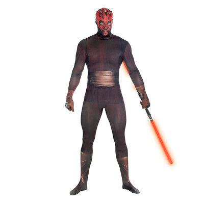 STAR WARS Darth Maul Adult Unisex Zapper Cosplay Costume Digital Morphsuit XL