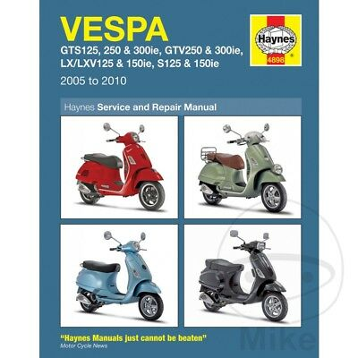 Vespa GTS 300 ie Super 2013 Haynes Service Repair Manual 4898