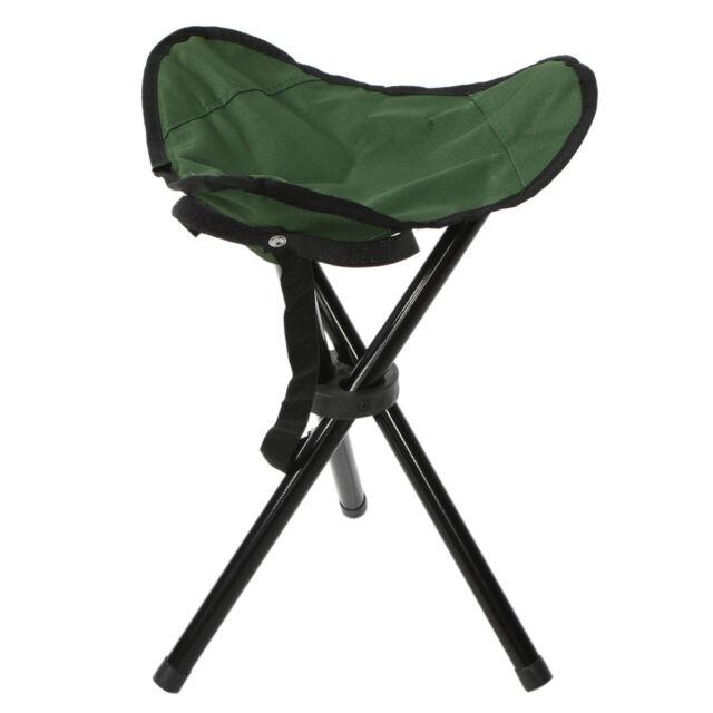 Tall Lightweight Portable Folding Tripod Stool Pocket Slacker Chair Fishing  sc 1 st  eBay & Tall Lightweight Portable Folding Tripod Stool Pocket Slacker ... islam-shia.org