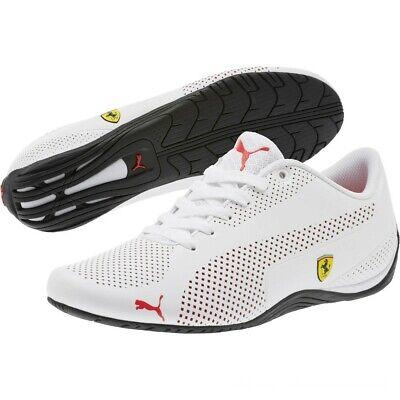Mens Puma Ferrari SF Drift Cat 5 Ultra Trainers White Red BNIBWT Sizes UK 7 -10