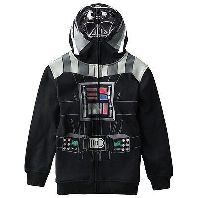 Star Wars DARTH VADER Costume Hoodie BOYS Dark Side HOODY (L -14/16) (XL - (Darth Vader Hoodie)