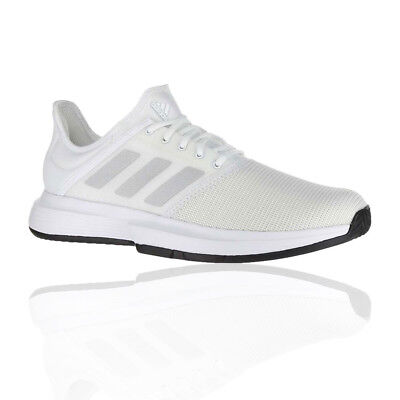 adidas Mens Game Court Tennis Shoes White Sports Breathable