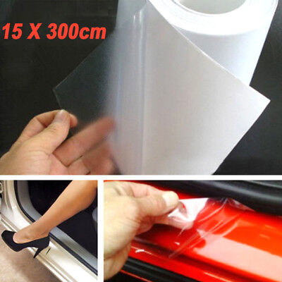 6X 118 Clear Door Sill Edge Paint Protection Scratches Vinyl film Sheet All Car