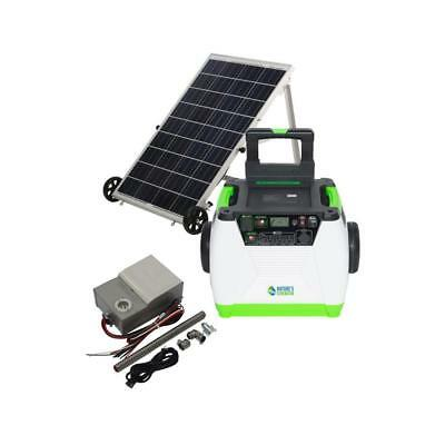 100W Solar Powered Portable Generator with Electric Start battery GOLD-PE System