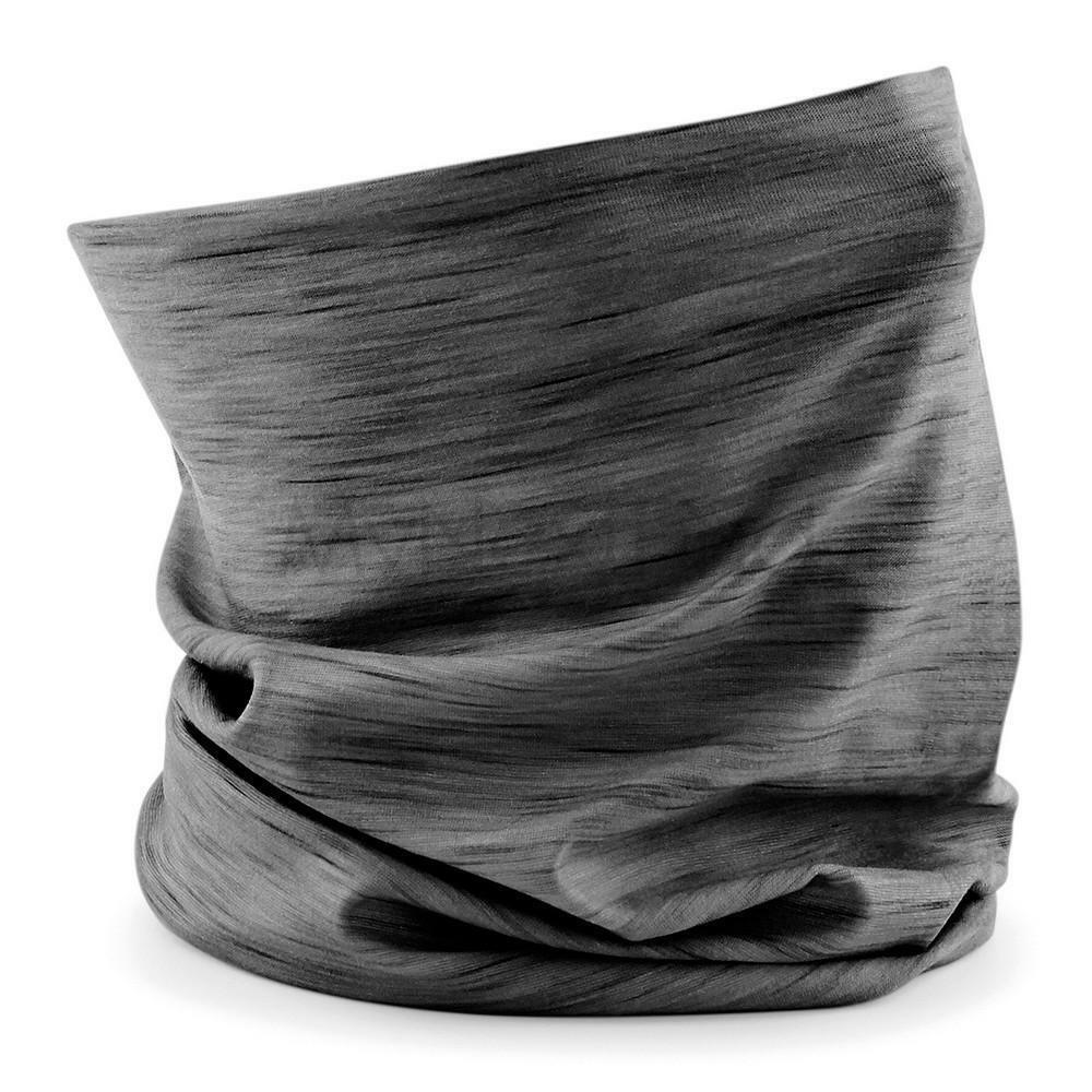 Beechfield Morf Spacer Marl Multi Use 3 in 1 Headband Snood Hat Neck Ski Scarf