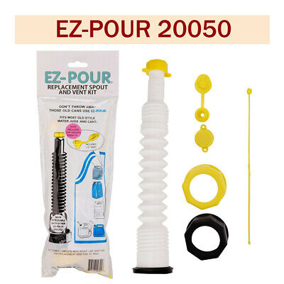 EZ-Pour Gas Can Spout Replacement Fuel Nozzle Vent Kit for Old Gas Can Water Jug
