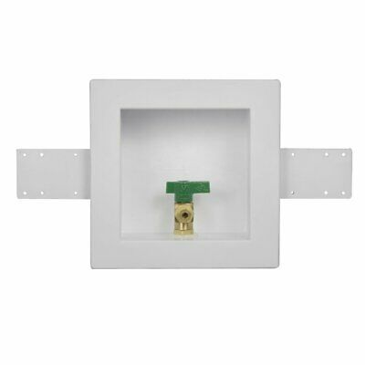 Oatey 39156 Square Ball Ice Maker Outlet Box Copper Sweat Inlet Connection
