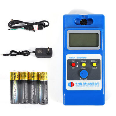 Clear Lcd 0.1mt Millitesla Resolution Force Handheld Digital Wt10a Gauss Meter