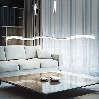 Esszimmer Licht Höhe (LED 26 Watt Hänge Lampe Wellen Leuchte höhenverstellbar Decken Licht Pendel WOFI)