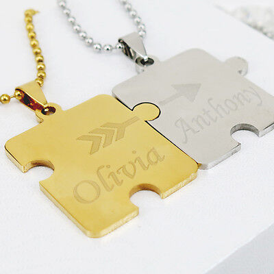 Personalized Puzzle Necklace for Couple Best Friend Family Custom