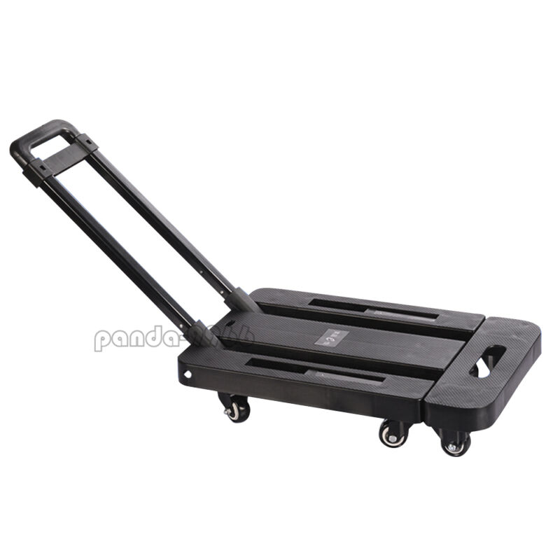 Folding Hand Cart Dolly Fold Up Luggage Truck Portable Moving Cart 440lb 6 Wheel