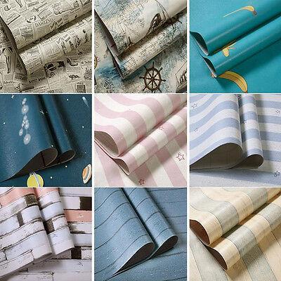 45Cm 10M Wood Grain Self   Adhesive Wallpaper Desktop Decoration Mediterranean