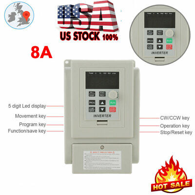1.5kw 2hp Vfd 8a 220v Single Phase Speed Variable Frequency Drive Inverter