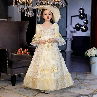 Kids Girls Victorian Era Ball Gown Theare Cosplay Queen Dress Palace Costumes](Victorian Kids Costume)