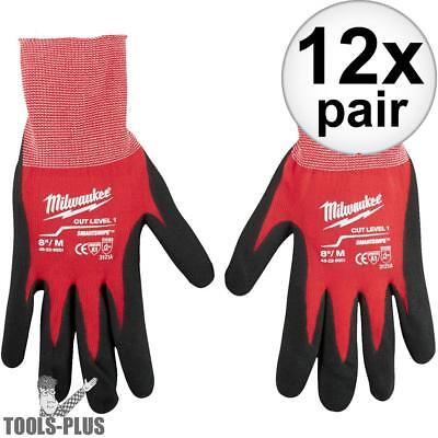 Milwaukee 48-22-8901 12x Cut Level 1 Dipped Word Gloves - Medium New