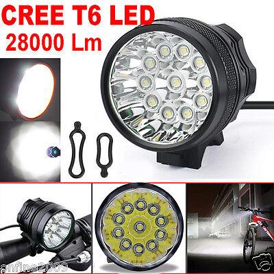 28000LM Waterproof 11 x CREE XM-L T6 LED 8 x 18650 Bicycle Cycling Light Lamp
