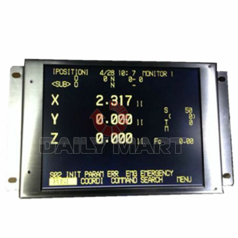 """New Fanuc CNC System A61L-0001-0095 9"""" LCD Display Screen Panel Replacement New"""