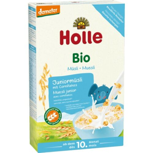 Holle organic JUNIOR muesli porridge with Corn Flakes FREE SHIPPING