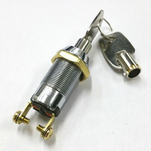 NEW Philmore 30-10078B SPST, ON or OFF Position, Tubular Barrel Type Key Switch