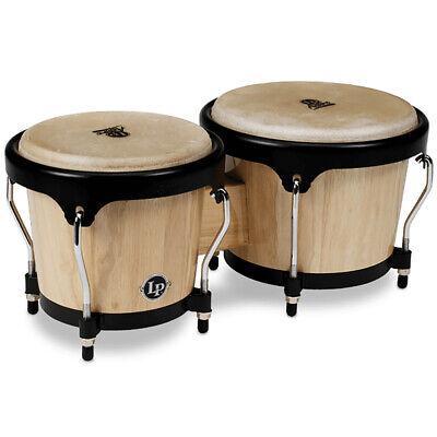 Latin Percussion LPA601-AW LP Aspire Series Bongos, Natural Wood & Black