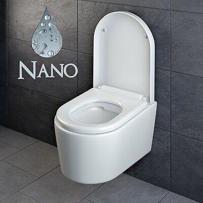 Design Wand Hänge WC ohne Spülrand Spülrandlos Toilette Sitz Softclose hängend 6