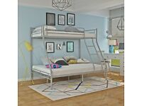 🎆💖🎆BRAND NEW IN BOX🎆💖🎆TRIO METAL BUNK BED FRAME DOUBLE BOTTOM & SINGLE TOP HIGH QUALITY