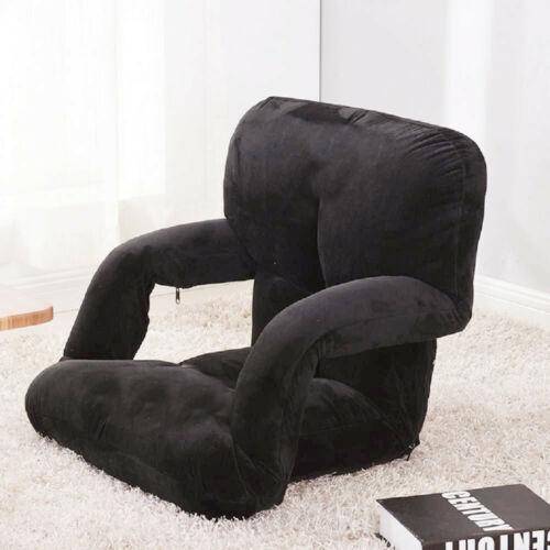 Portable Bleacher Seat Reclining Stadium Seat Chair With Armrest & Cushion Backs