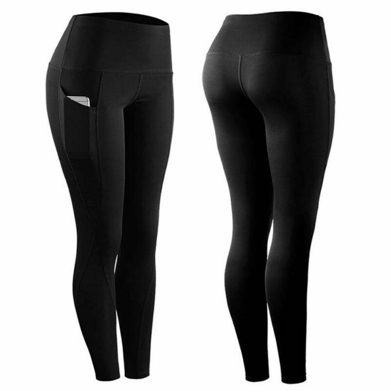 ❤Damen Hohe Taille Yoga Hose Fitness Push Up Leggings Sports Stretch Jogginghose