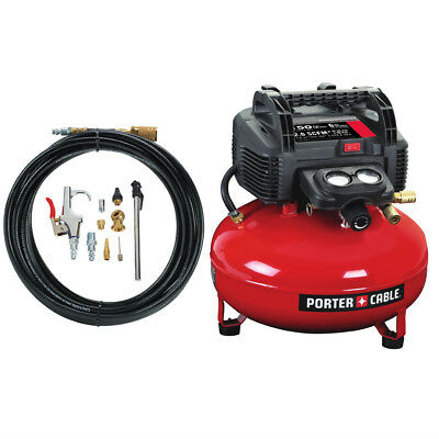Porter-Cable 6 Gal. Pancake Air Compressor and Accessory Kit C2002-WK Refurb for sale  Suwanee